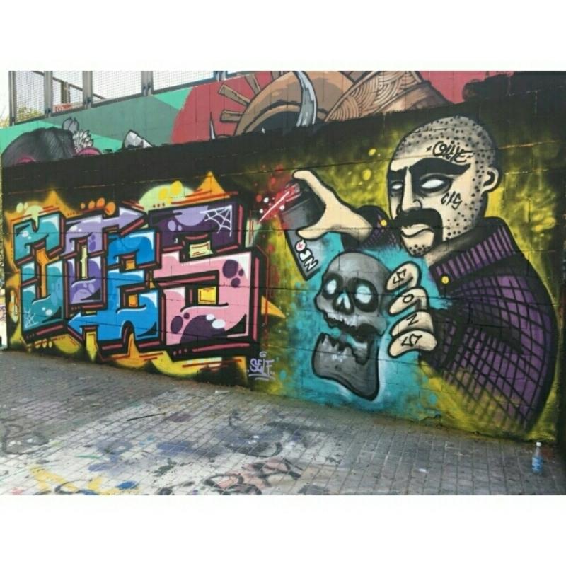 Wallspot - OILLE.YOP. - Barcelona - Drassanes - Graffity - Legal Walls -