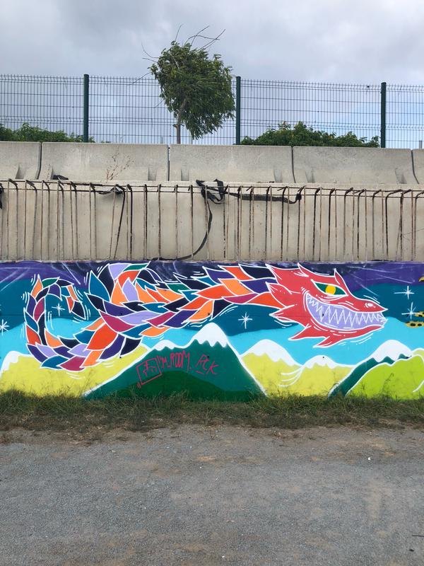 Wallspot - m.room - la creatividad es un dragón. - Barcelona - Forum Place - Graffity - Legal Walls - Illustration