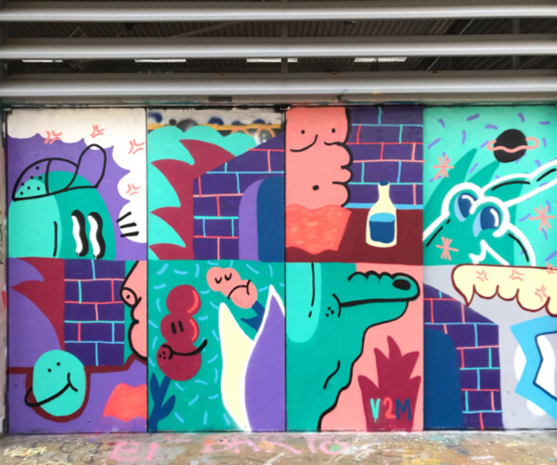 Wallspot - V2M - Barcelona - CUBE tres xemeneies - Graffity - Legal Walls -