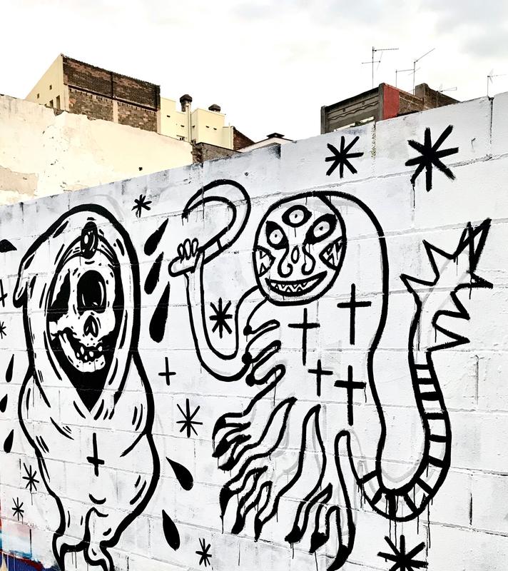 Wallspot - henrysaenz - Painting with MACO - Barcelona - Poble Nou - Graffity - Legal Walls -