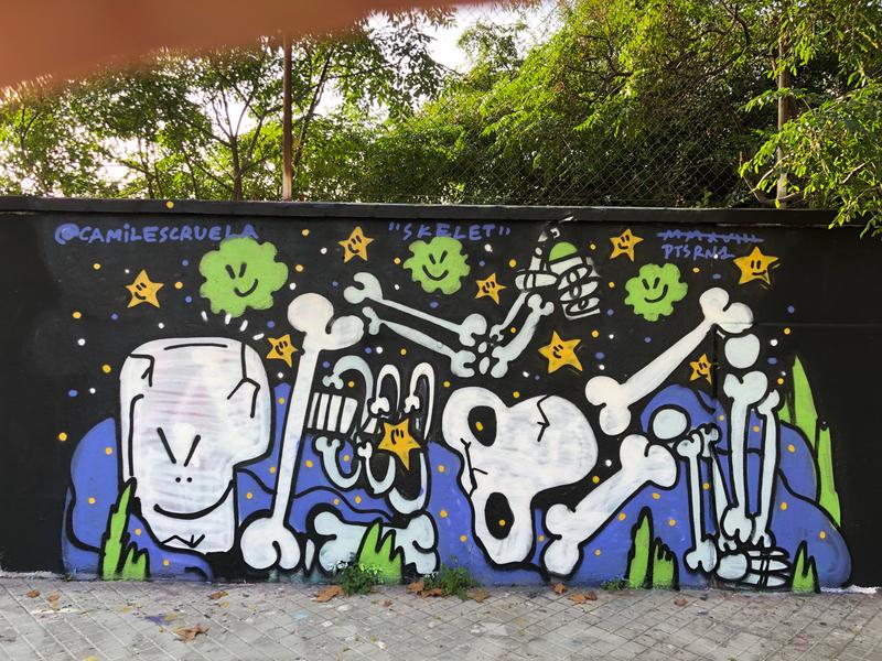Wallspot - kamil escruela - skelet - Barcelona - Agricultura - Graffity - Legal Walls - Illustration