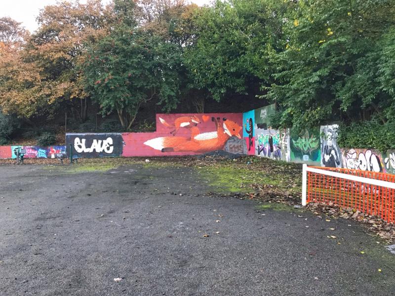 Wallspot - FitLike  - Aberdeen - Sunnybank Park / Throwupgallery - Graffity - Legal Walls -