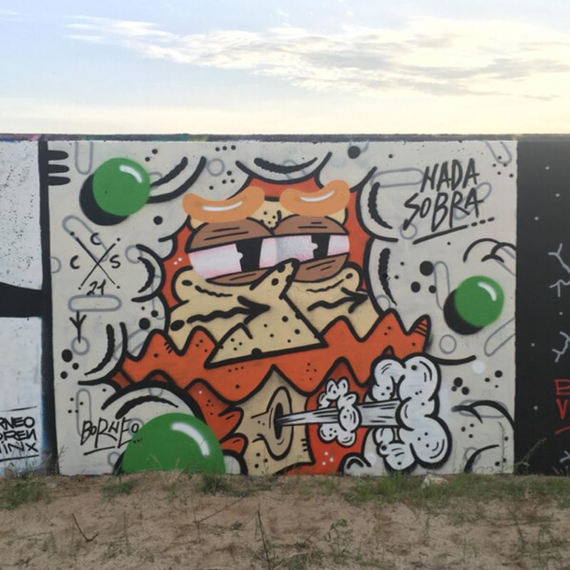 Wallspot - Borneo Modofoker - Barcelona - Forum beach - Graffity - Legal Walls -