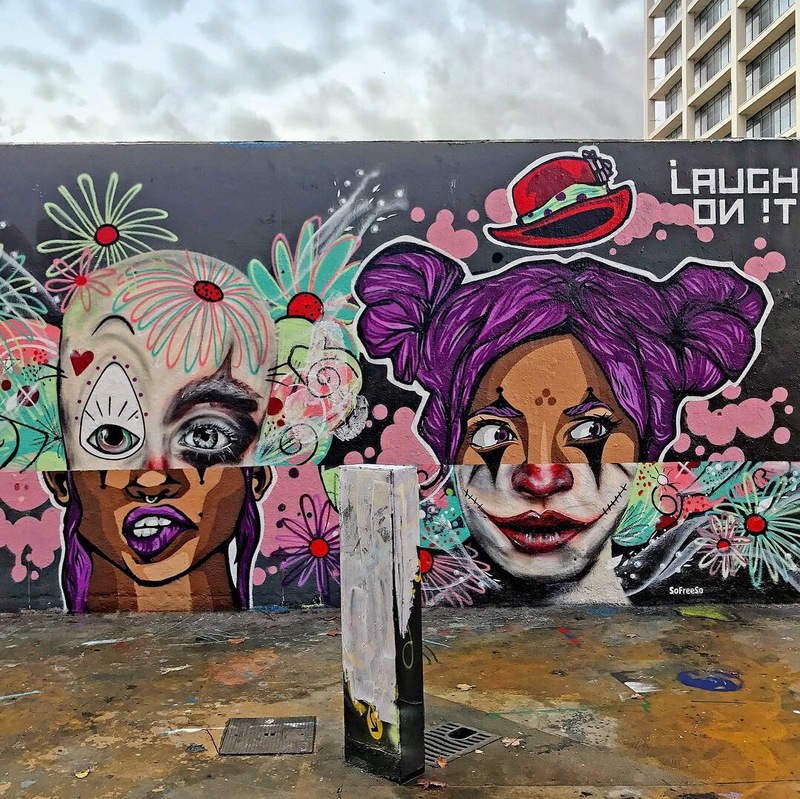 Wallspot - KLER - LAUGH ON !T - Barcelona - Tres Xemeneies - Graffity - Legal Walls -