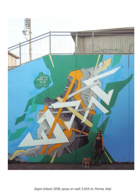 Wallspot - JE73 - Ponte Europa: Segni Urbani. Parma, Italia - JE73 - Parma - Ponte Europa: Segni Urbani. Parma, Italia - Graffity - Legal Walls - Letters, Illustration, Stencil