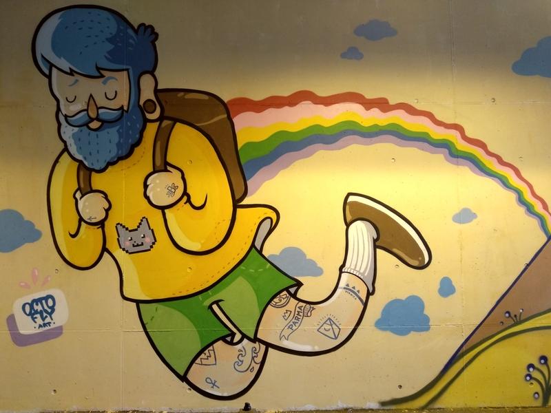 Wallspot - Octofly Art - Ponte Europa: Segni Urbani. Parma, Italia - Octofly Art - Parma - Ponte Europa: Segni Urbani. Parma, Italia - Graffity - Legal Walls - Letters, Illustration, Stencil