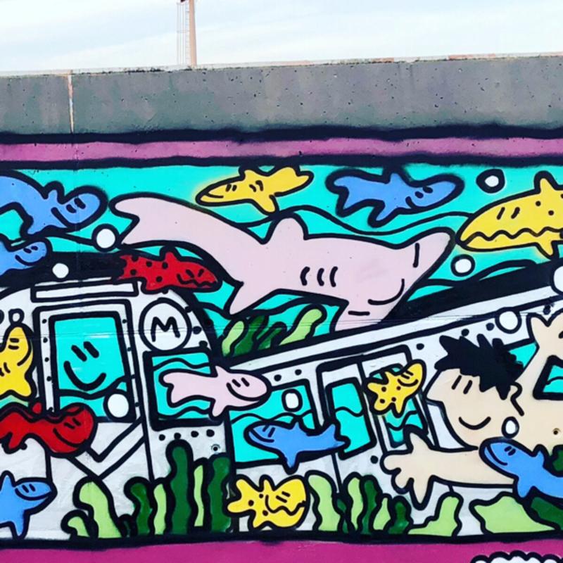 Wallspot - kamil escruela - Barcelona - Forum Place - Graffity - Legal Walls - Illustration, Others