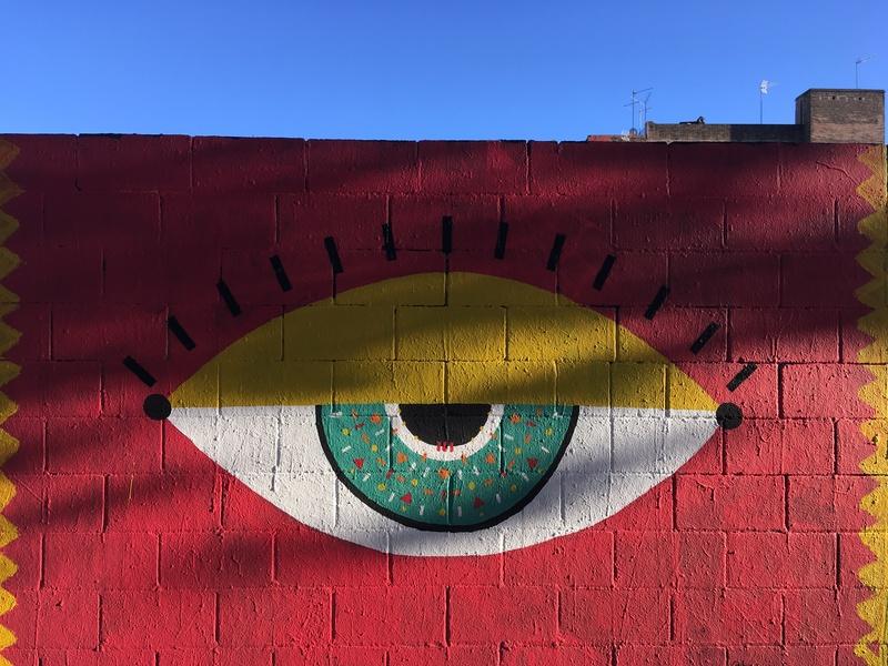 Wallspot - b a b a - Te veo  - Barcelona - Poble Nou - Graffity - Legal Walls -