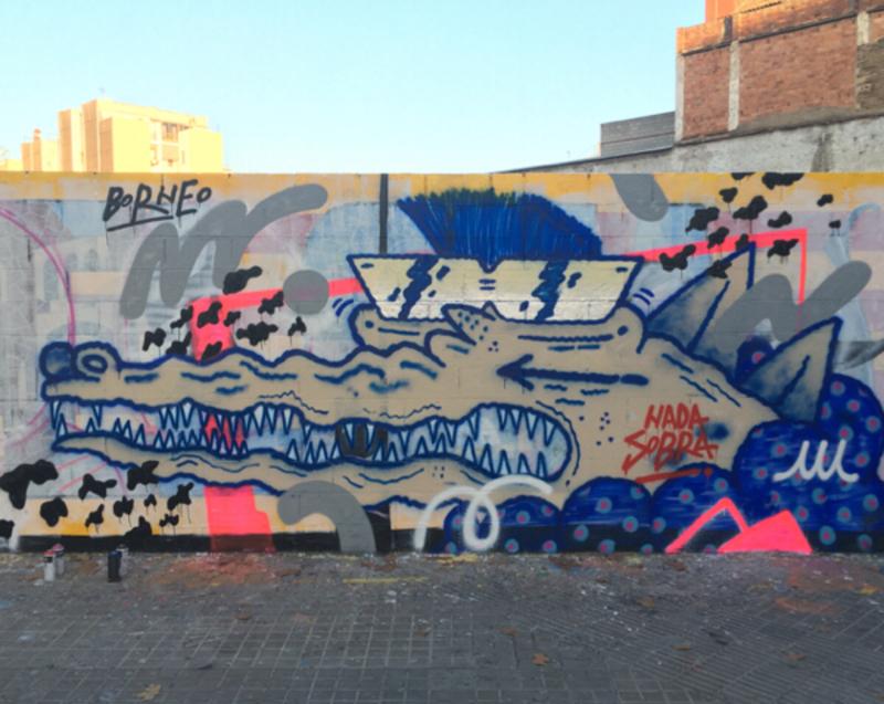 Wallspot - Borneo Modofoker - Barcelona - Poble Nou - Graffity - Legal Walls -
