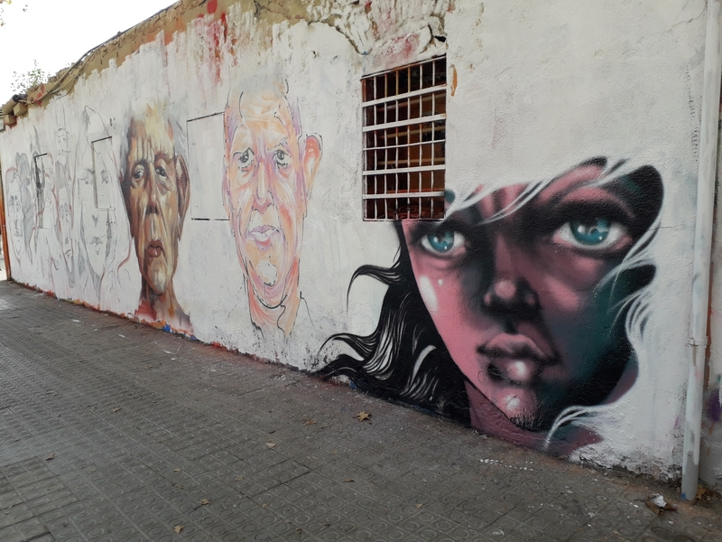 Wallspot - martinmonet - Western Town - Barcelona - Western Town - Graffity - Legal Walls - Ilustración
