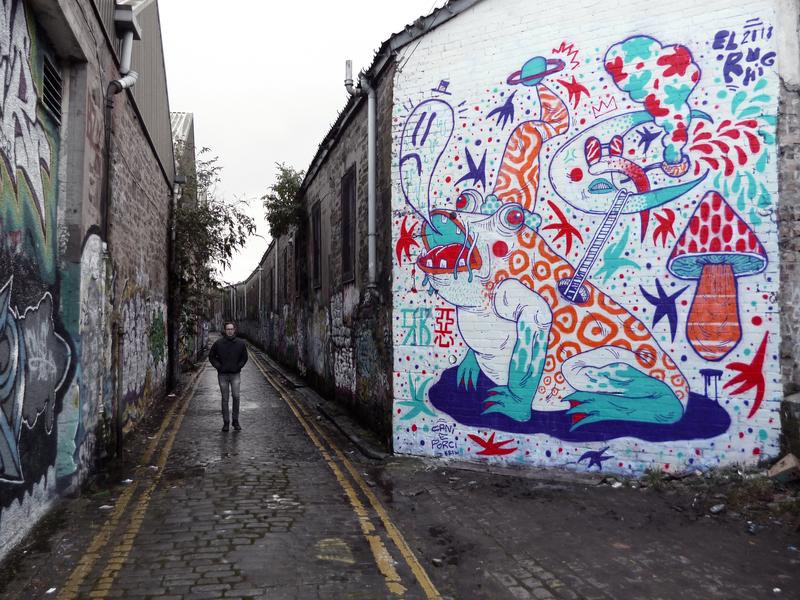 Wallspot - El Rughi - Mary Ann Lane - El Rughi - Dundee - Mary Ann Lane - Graffity - Legal Walls - Ilustración