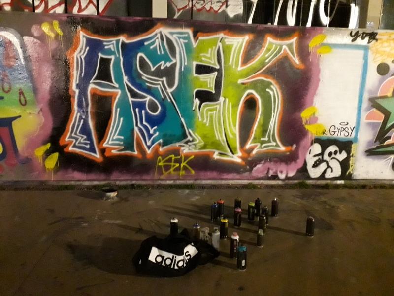 Wallspot - Asek - Barcelona - Tres Xemeneies - Graffity - Legal Walls - Letters