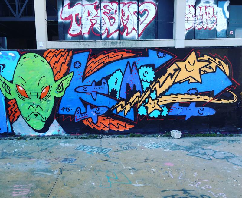 Wallspot - kamil escruela - Barcelona - Tres Xemeneies - Graffity - Legal Walls -