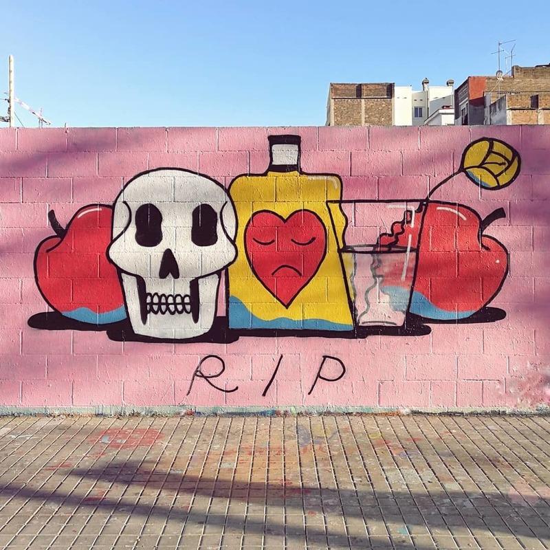 Wallspot - umendicutty - RIP - Barcelona - Poble Nou - Graffity - Legal Walls -