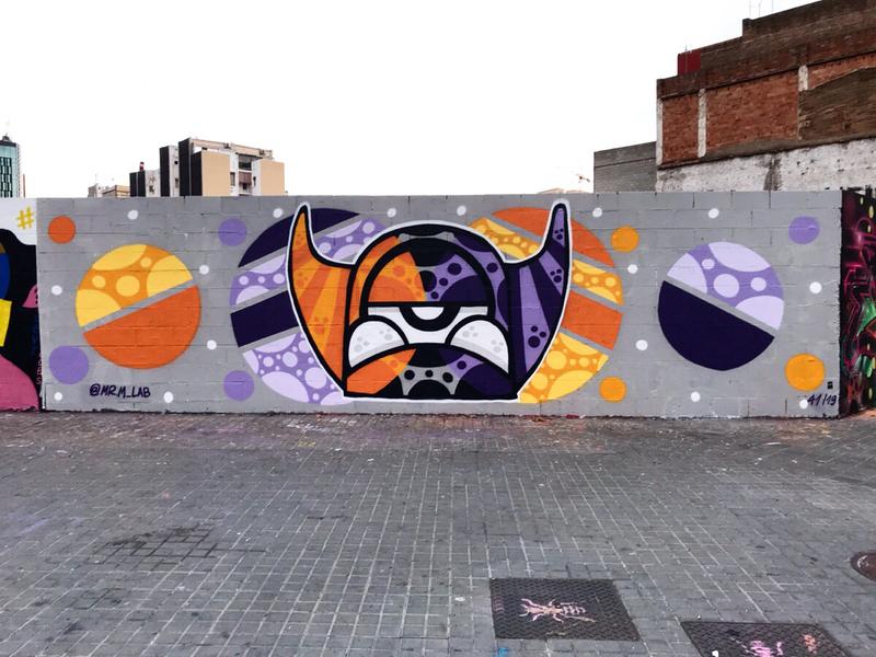 Wallspot - Mr.M - Barcelona - Poble Nou - Graffity - Legal Walls -