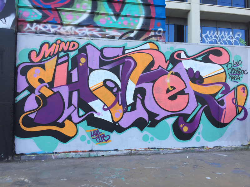 Wallspot - mindshaker - Tres chimeneas - Paral•lel  - Barcelona - CUBE tres xemeneies - Graffity - Legal Walls - Letras