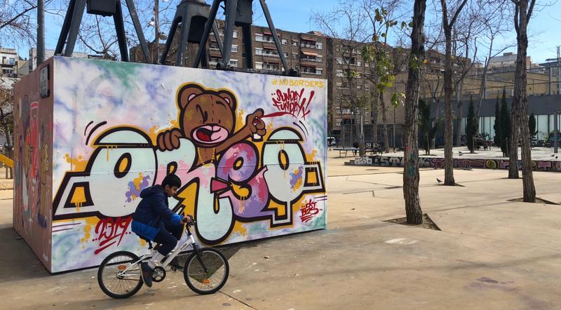 Wallspot - Zach OREO - Barcelona - CUBE tres xemeneies - Graffity - Legal Walls - Lletres, Il·lustració, Altres