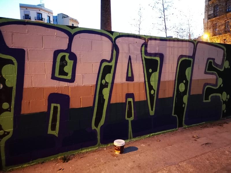 Wallspot - Hate_one - Poble Nou - Barcelona - Poble Nou - Graffity - Legal Walls - Letras