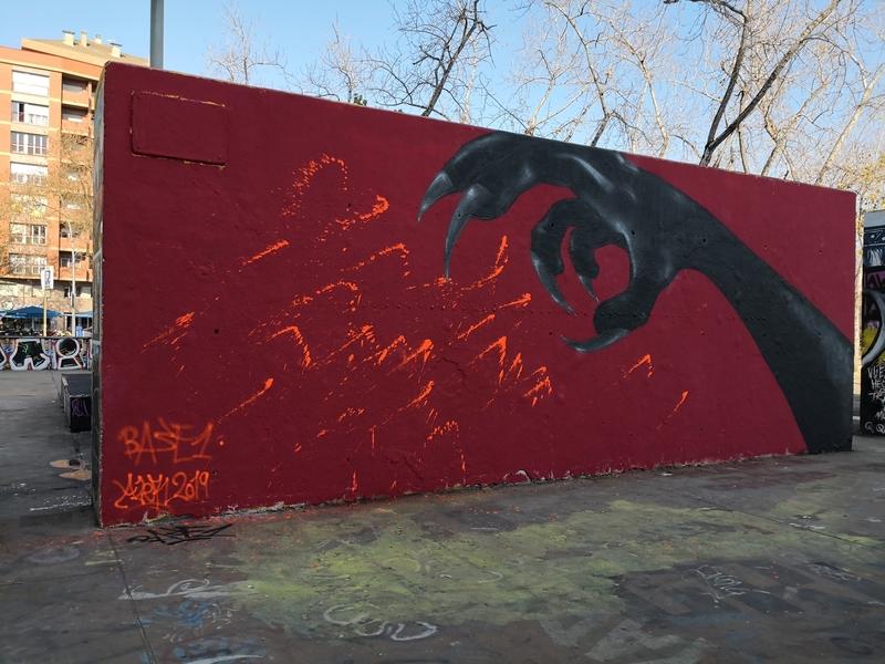 Wallspot - mark - Barcelona - Tres Xemeneies - Graffity - Legal Walls -