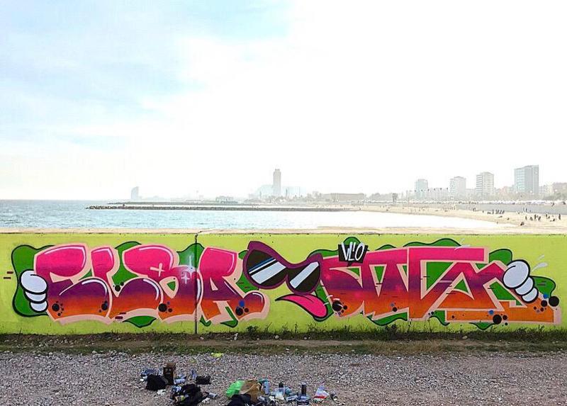 Wallspot - elbaelbita - Barcelona - Forum beach - Graffity - Legal Walls -