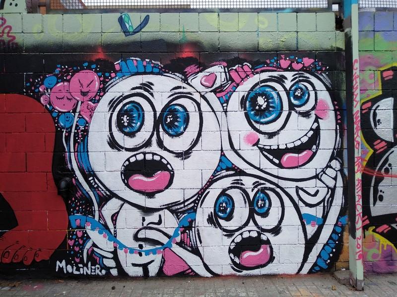 Wallspot - natalia molinero - Visitors! - Barcelona - Drassanes - Graffity - Legal Walls -