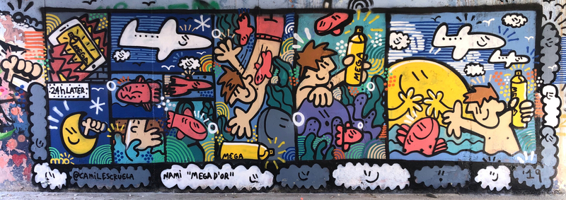 Wallspot - kamil escruela - Barcelona - Forum Place - Graffity - Legal Walls -