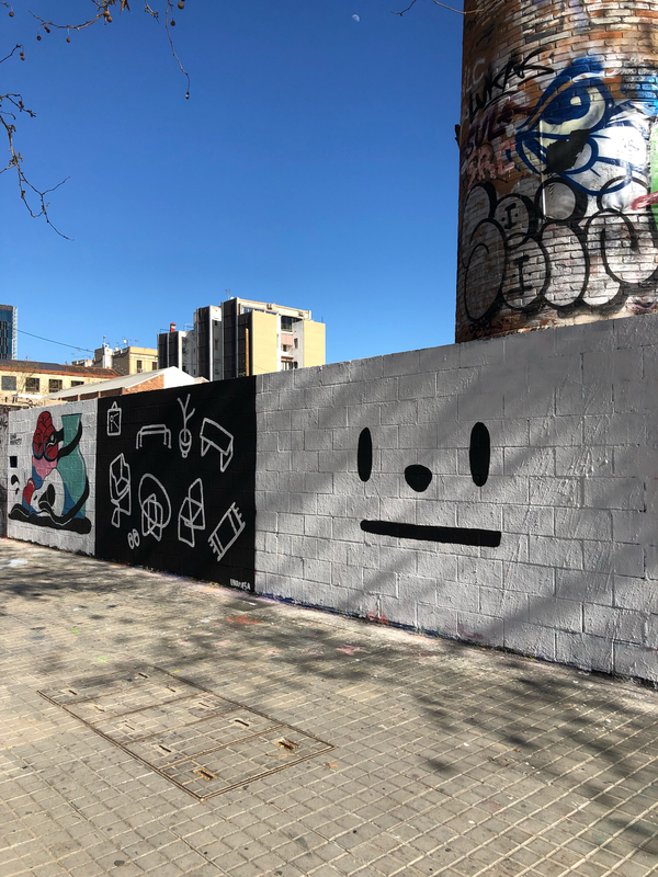 Wallspot - pabs - •__• - Barcelona - Poble Nou - Graffity - Legal Walls -