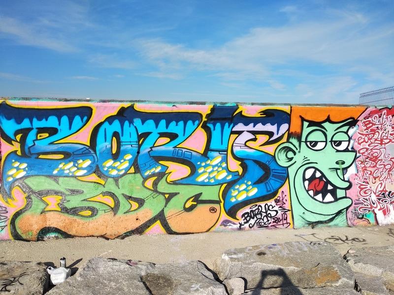 Wallspot - Boris Man - Forum beach - Barcelona - Forum beach - Graffity - Legal Walls - Letters