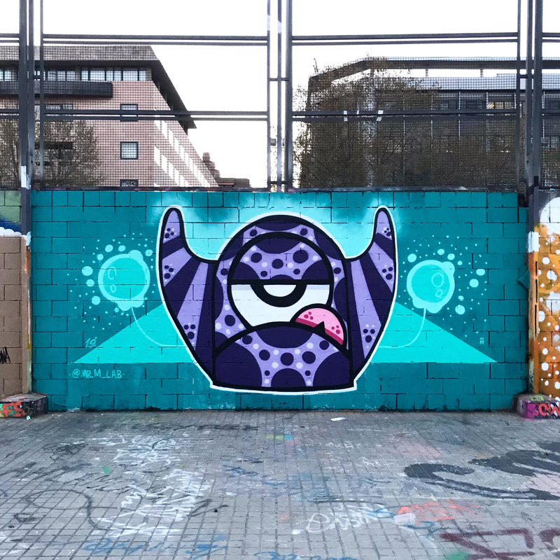 Wallspot - Mr.M - Barcelona - Drassanes - Graffity - Legal Walls -
