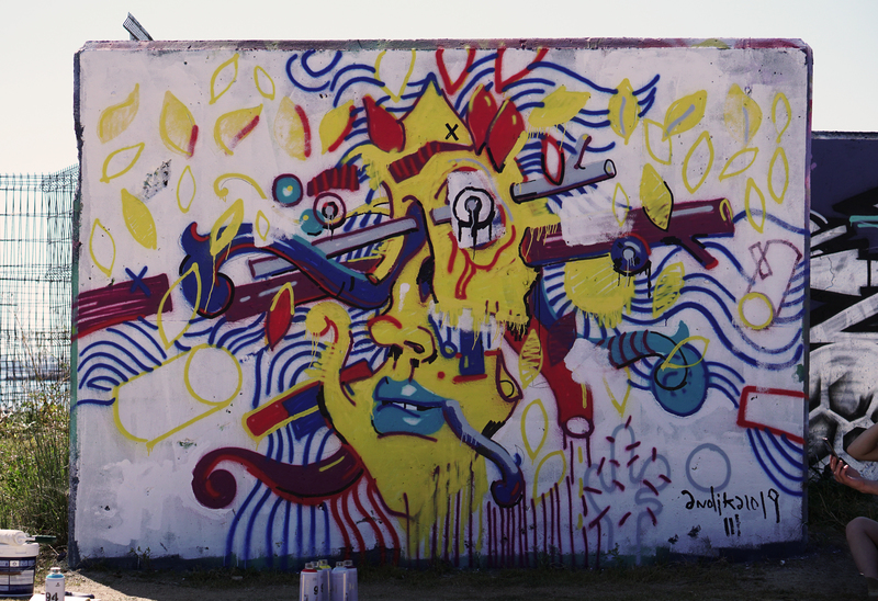Wallspot - andjka - Forum beach - andjka - Barcelona - Forum beach - Graffity - Legal Walls - Illustration