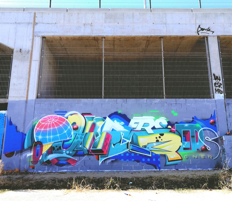Wallspot - Oner - OneR - Barcelona - Forum Place - Graffity - Legal Walls - Letters