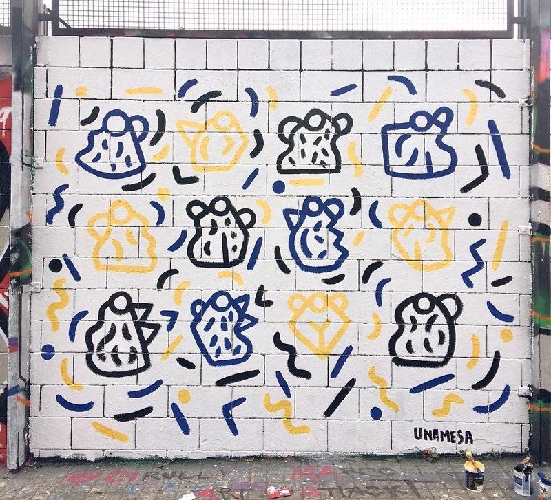 Wallspot - Unamesa - Drassanes - Unamesa - Barcelona - Drassanes - Graffity - Legal Walls - Il·lustració