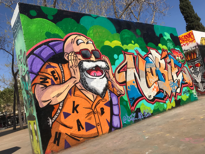 Wallspot - Dogz - collab with @realnoble - Barcelona - Tres Xemeneies - Graffity - Legal Walls -