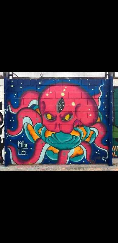Wallspot - Killa.Ek - Barcelona - Drassanes - Graffity - Legal Walls -