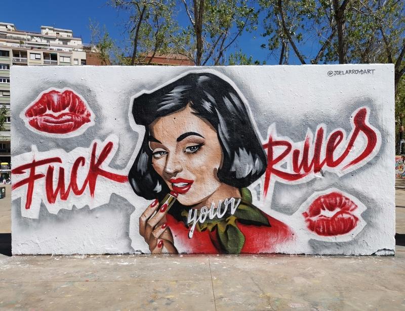 Wallspot - Joelarroyo - Tres Xemeneies - Barcelona - Tres Xemeneies - Graffity - Legal Walls -