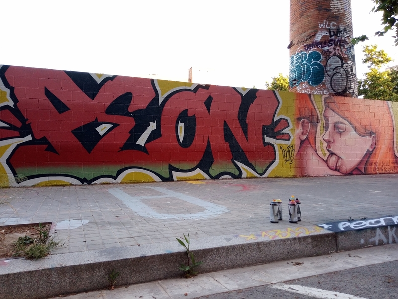 Wallspot - peone1 - PEON - ANTARES - Barcelona - Poble Nou - Graffity - Legal Walls - Letters, Illustration