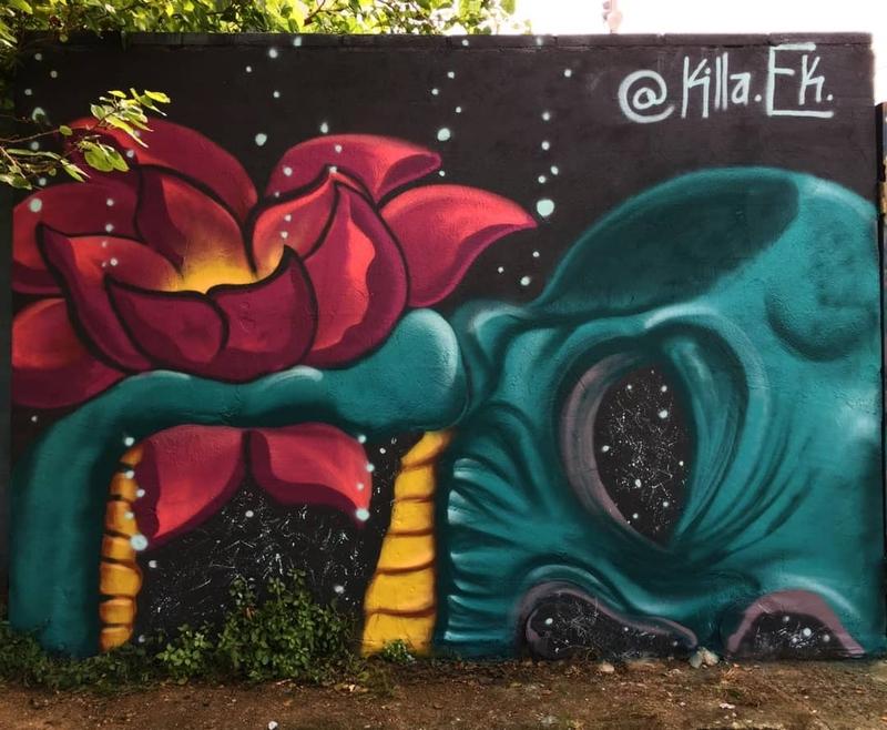 Wallspot - Killa.Ek - Barcelona - Parc de la Bederrida - Graffity - Legal Walls -