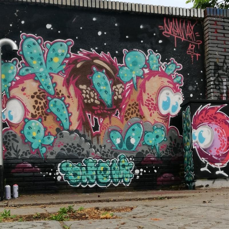 Wallspot - dhemart - Barcelona - Selva de Mar - Graffity - Legal Walls -