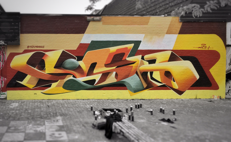 Wallspot - FISH - Croos - FISH - Rotterdam - Croos - Graffity - Legal Walls - ,