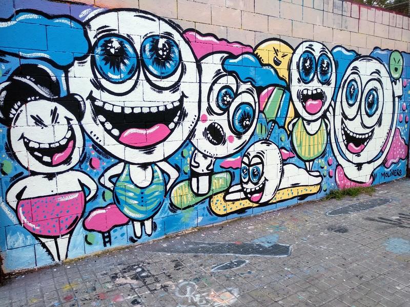 Wallspot - natalia molinero - Drassanes - natalia molinero - Barcelona - Drassanes - Graffity - Legal Walls - Illustration