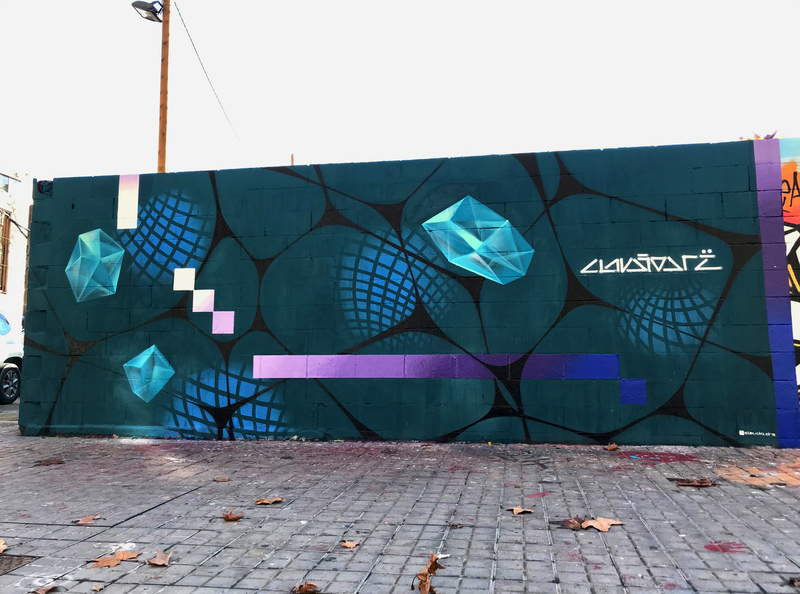 Wallspot - Drë - Esmineraldas en Movimiento  - Barcelona - Poble Nou - Graffity - Legal Walls -