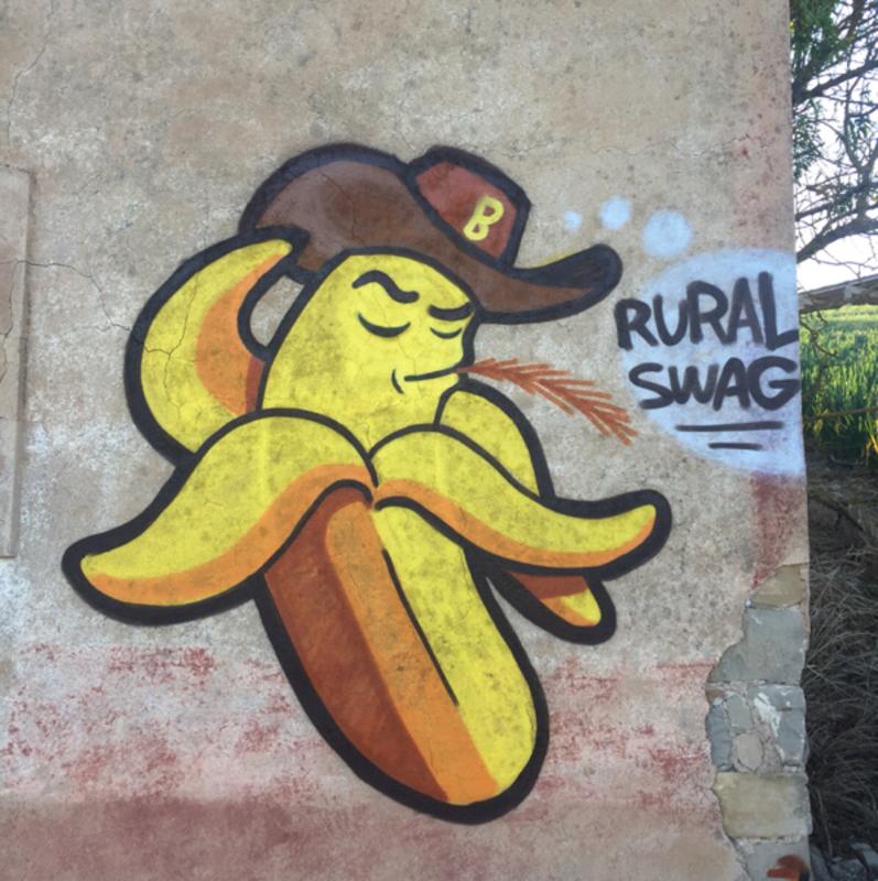 Wallspot - Banana Paredes - Rural Swag - Barcelona - Poble Nou - Graffity - Legal Walls -