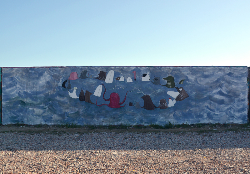 Wallspot - dudelsea - Forum beach - dudelsea - Barcelona - Forum beach - Graffity - Legal Walls - Illustration