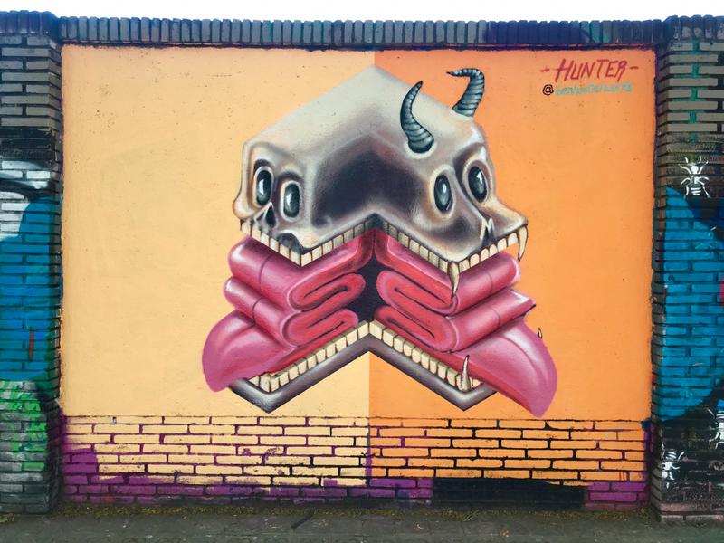 Wallspot - Ben Hunter - Anatomy  - Barcelona - Selva de Mar - Graffity - Legal Walls - Il·lustració