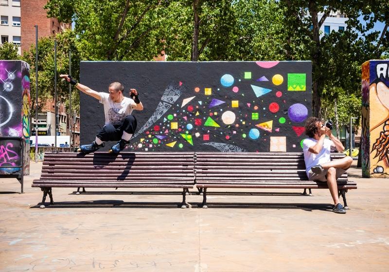Wallspot - TimMarsh - symbiosis - Barcelona - Tres Xemeneies - Graffity - Legal Walls - Stencil, Altres