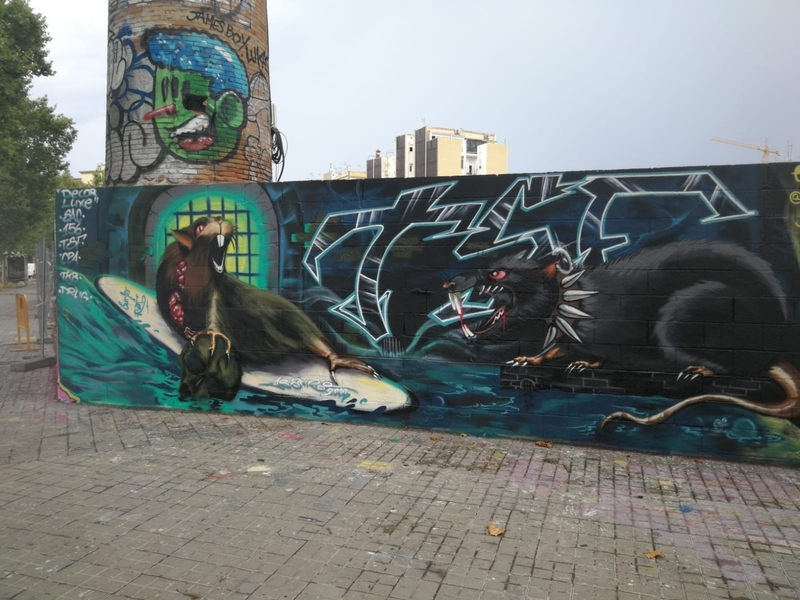 Wallspot - ABSURE2000 - Barcelona - Poble Nou - Graffity - Legal Walls -