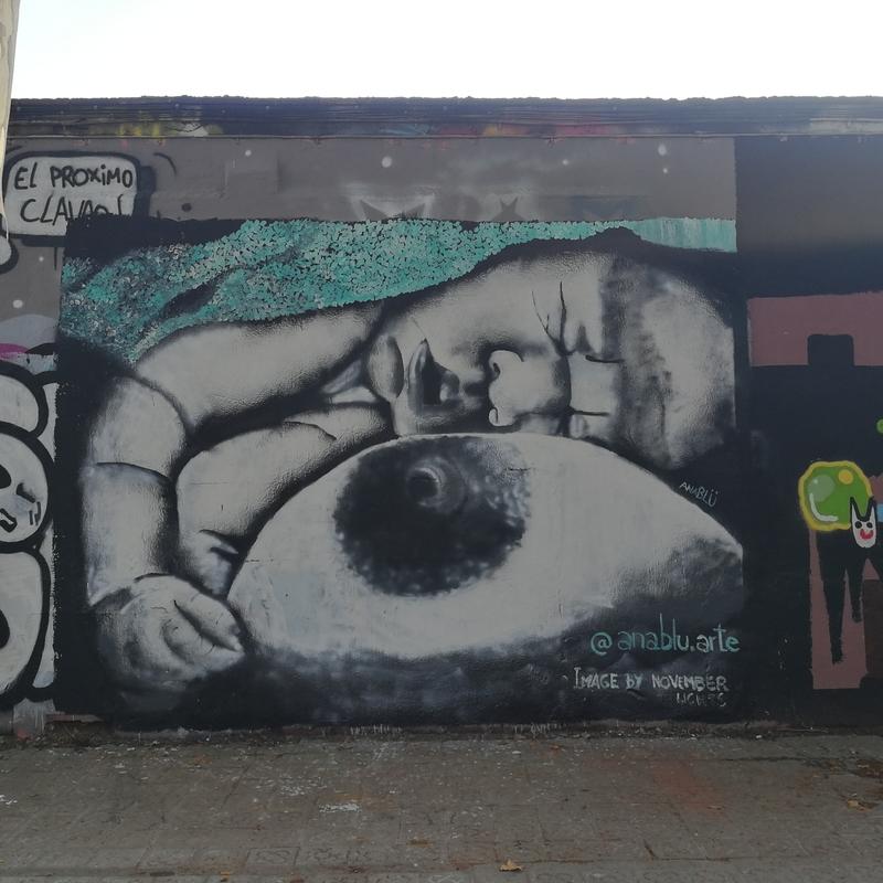 Wallspot - Ana BLÜ - Barcelona - Selva de Mar - Graffity - Legal Walls - Il·lustració, Altres