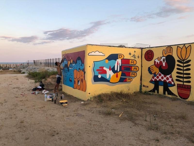 Wallspot - Dg - Barcelona - Forum beach - Graffity - Legal Walls -
