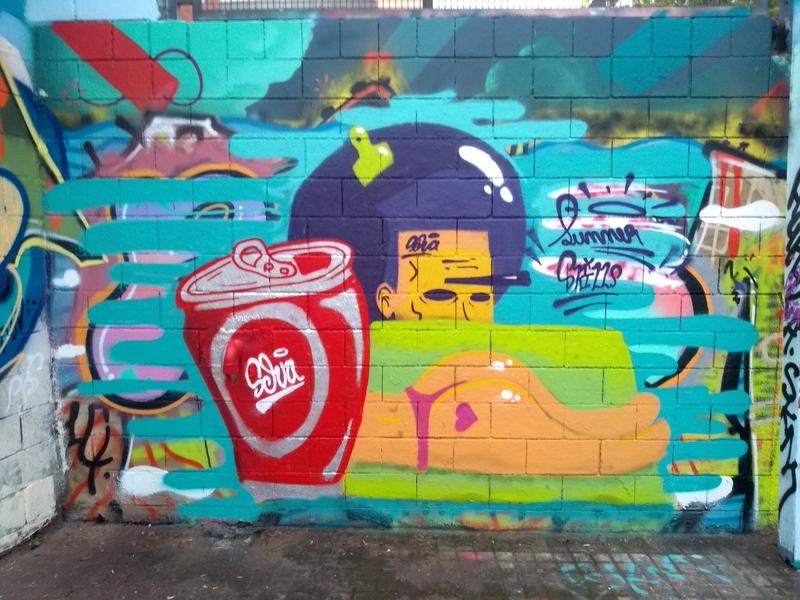 Wallspot - selva - Summer  skills - Barcelona - Drassanes - Graffity - Legal Walls - Ilustración