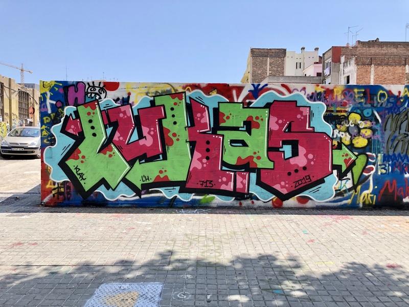 Wallspot - lukas - Poble Nou - lukas - Barcelona - Poble Nou - Graffity - Legal Walls -